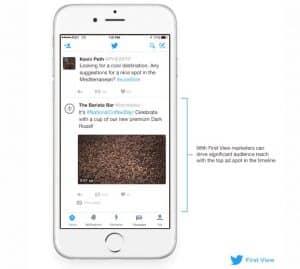 Cubos Web | Twitter: Atrae nuevos consumidores con First View